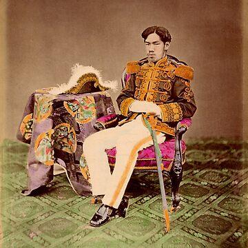 Meiji Emperor of Japan, Mutsuhito, 1872 by Fletchsan