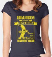 Camiseta entallada de cuello ancho Plátano congelado original de Bluth