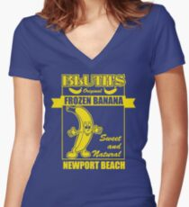Bluth's Original Frozen Banana Women's Fitted V-Neck T-Shirt