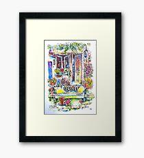 The Summer Kitchen Garden, Trausse Minervois, South of France Framed Print