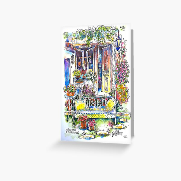 The Summer Kitchen Garden, Trausse Minervois, South of France Greeting Card