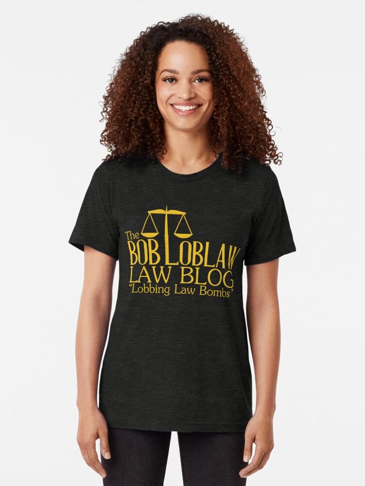 Alternative Ansicht von Der Bob Loblaw Law Blog Vintage T-Shirt