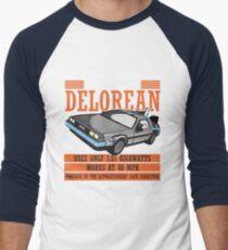 Doc E. Brown Time Travelling Delorean Men's Baseball ¾ T-Shirt
