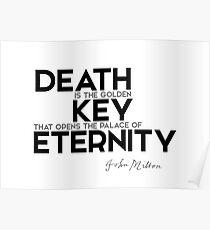 death: golden key to eternity - john milton Poster