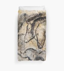 Chauvet Horses Aurochs and Rhinoceros Duvet Cover