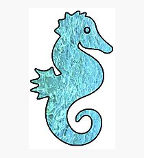 Seahorse Hologram Water Texture Photographic Print