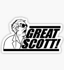 Doc E. Brown Great Scott Sticker