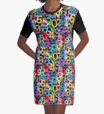 Numbers Graphic T-Shirt Dress