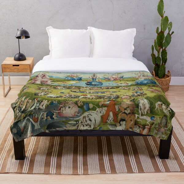 The Garden of Earthly Delights - Hieronymus Bosch Throw Blanket