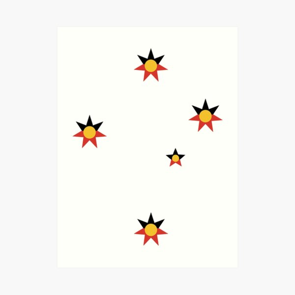 Aboriginal Southern Cross Art Print