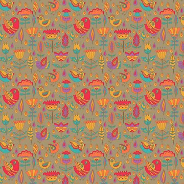Floral seamless pattern by maystra