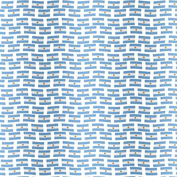 Argentinian flag tiled pattern by stuwdamdorp