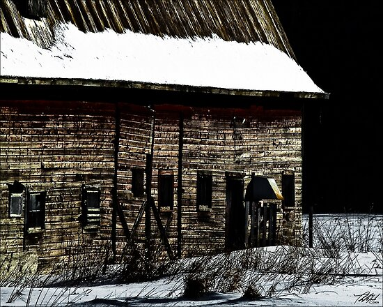 Barn in winter by Theodore Black