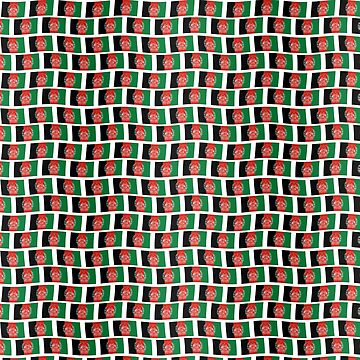 Afghan flag tiled pattern by stuwdamdorp