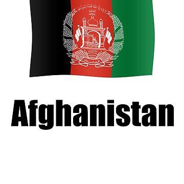 Afghan flag by stuwdamdorp