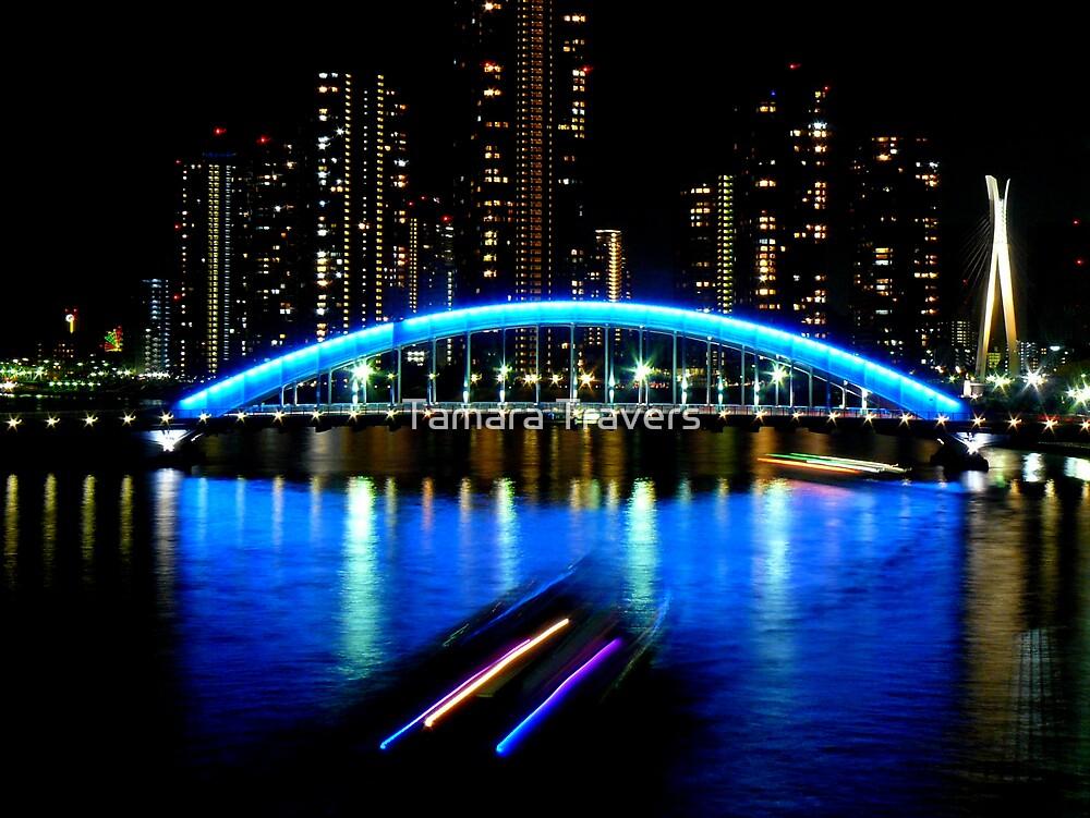 Sumida River at night by Tamara Travers