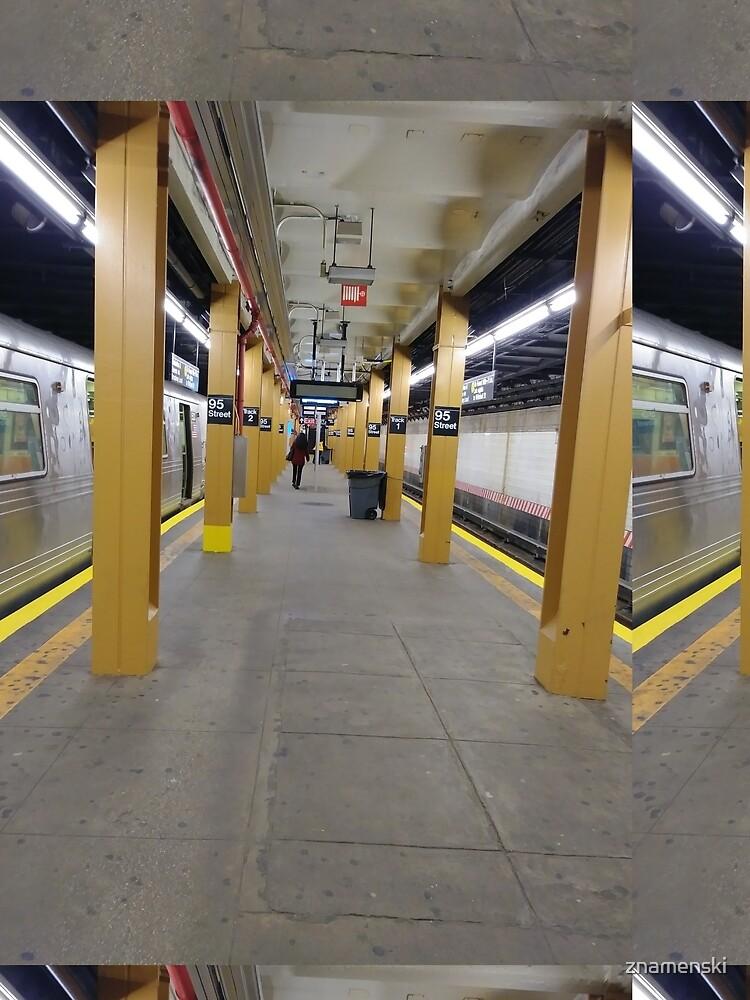Subway station, New York, Brooklyn, Manhattan, New York City, Buildings, streets, trees by znamenski