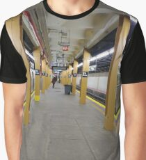 Subway station, New York, Brooklyn, Manhattan, New York City, Buildings, streets, trees Graphic T-Shirt