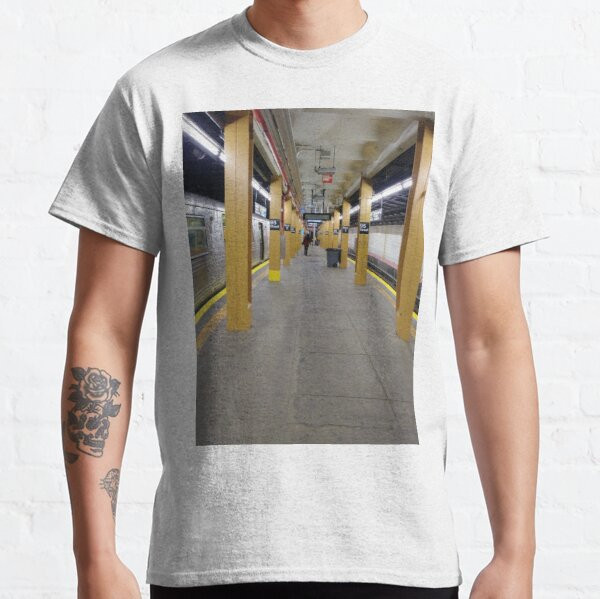 Subway station, New York, Brooklyn, Manhattan, New York City, Buildings, streets, trees Classic T-Shirt