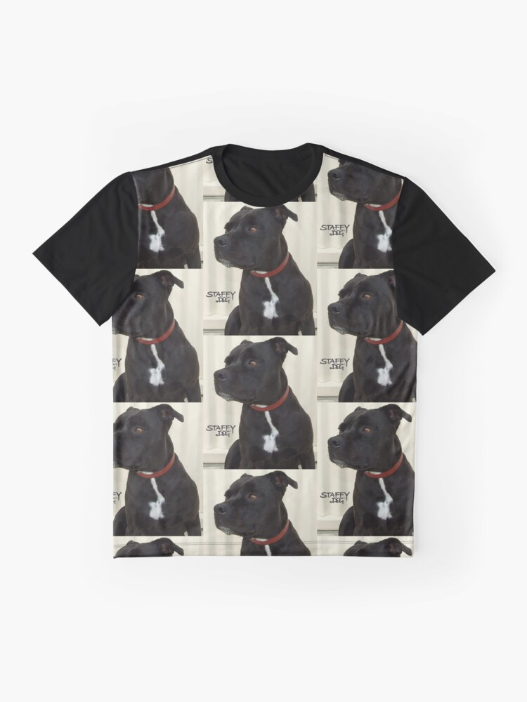 Alternate view of Staffy Dog Graphic T-Shirt