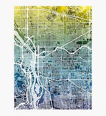 Portland Oregon City Map Photographic Print