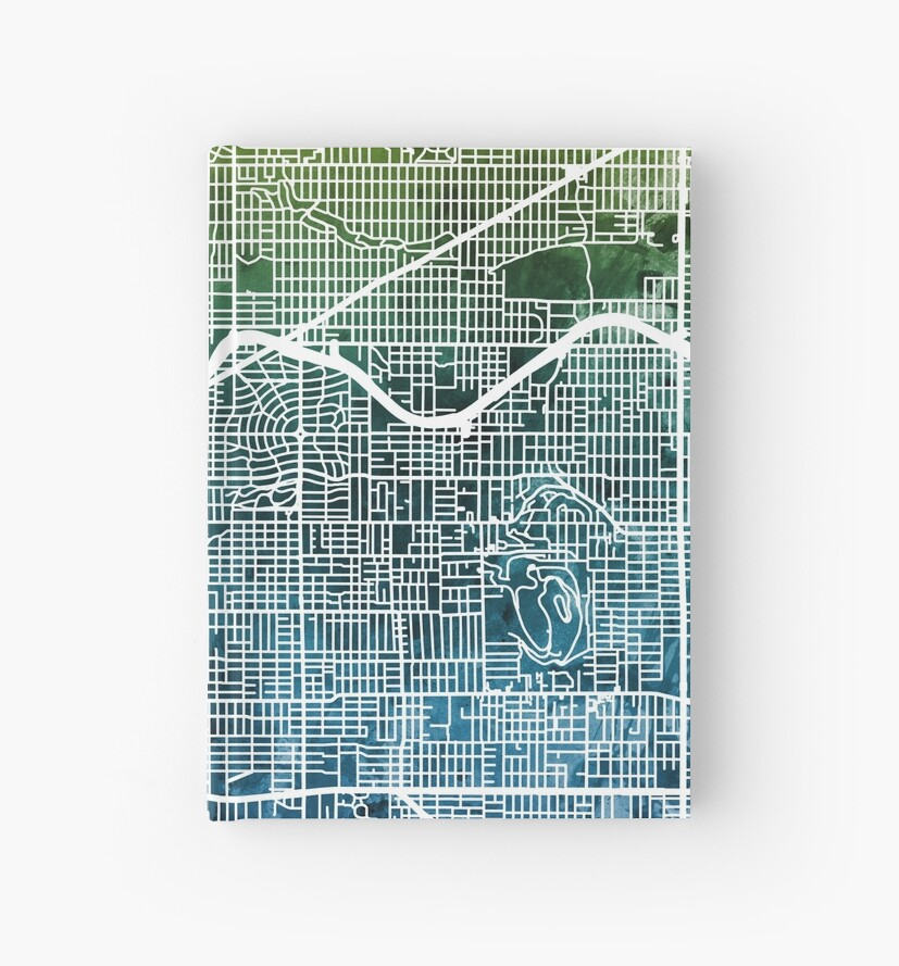 Portland Oregon City Map by Michael Tompsett