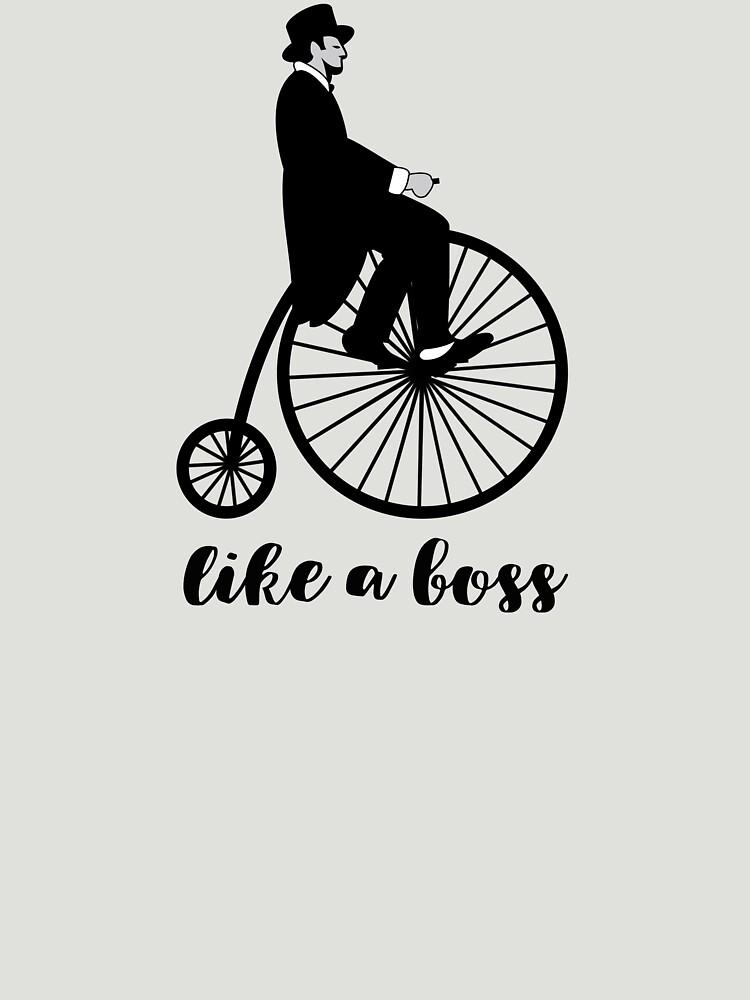 like a boss funny retro bike by untagged-shop