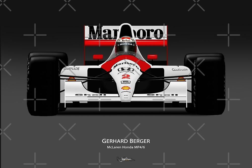 Gerhard Berger - McLaren MP4/6 by JageOwen