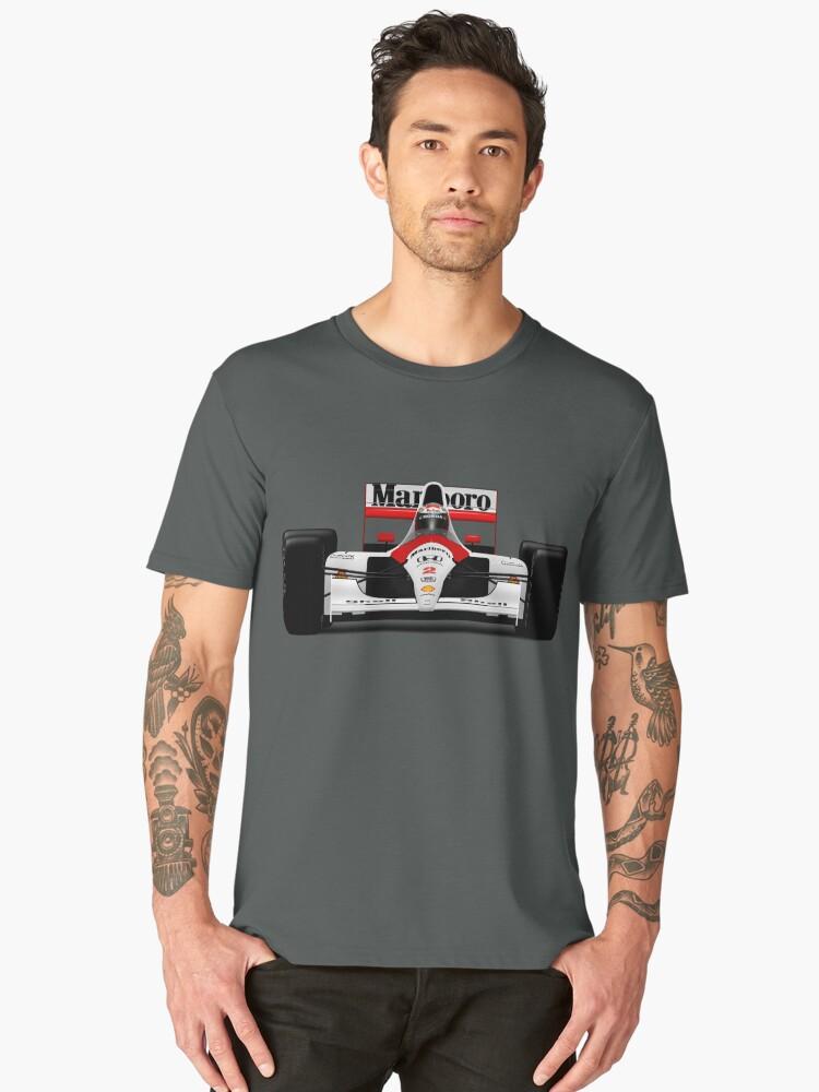 Gerhard Berger - McLaren MP4/6 Men's Premium T-Shirt Front