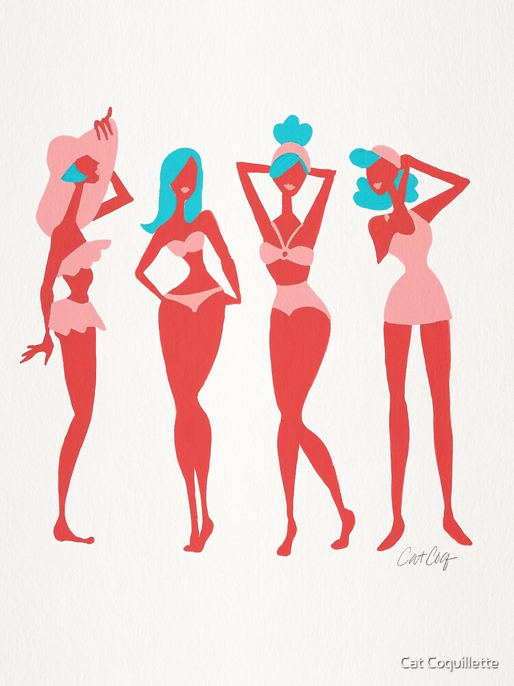 Beach Bombshells – Cyan & Coral Palette by Cat Coquillette