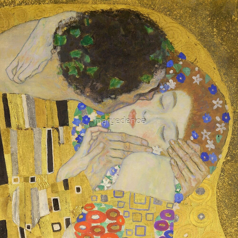 The Kiss - Gustav Klimt by maryedenoa