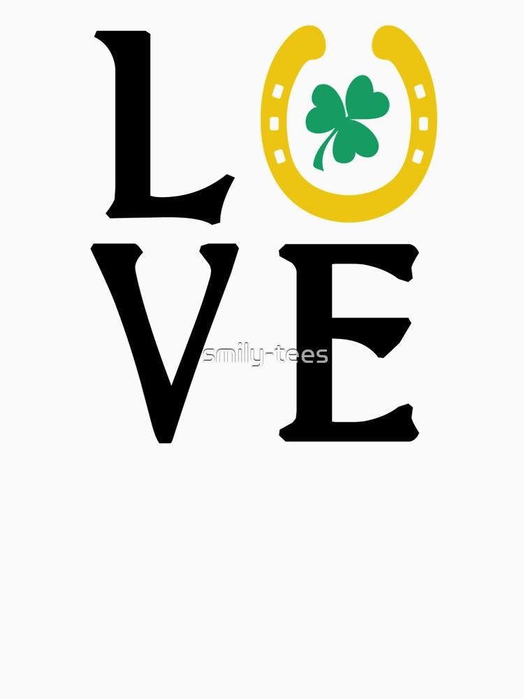 Love Irish Luck Shamrock Horse Shoe by smily-tees