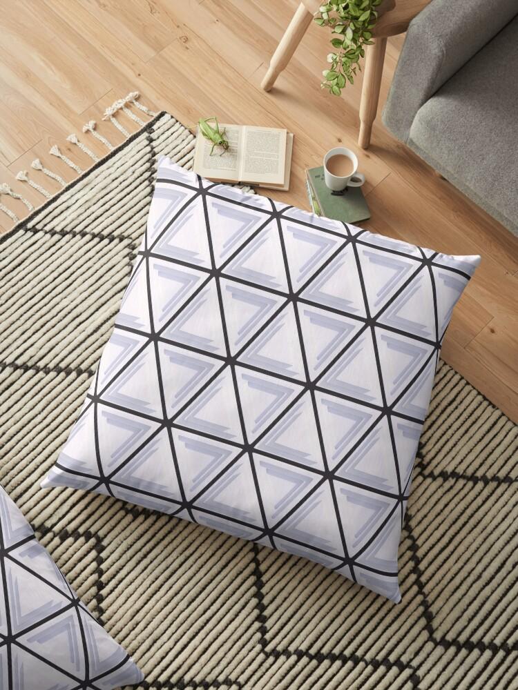 Triangular Pattern 1, White & Black by SummerAndSun