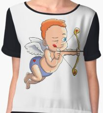 Cupid pulling his bow and arrow Chiffon Top