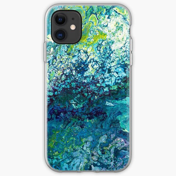 Turquoise Flow iPhone Soft Case