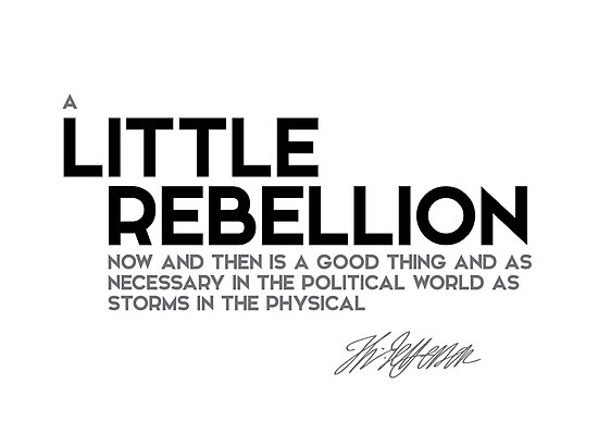 little rebellion is a good thing - jefferson by razvandrc