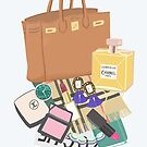 What's in my bag illustration by uzualsunday