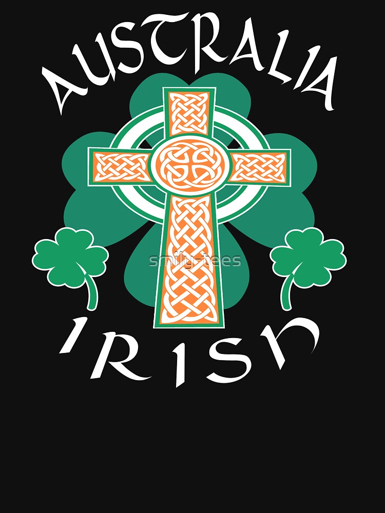 Australia Australian Irish Pride Celtic Cross Saint Patrick by smily-tees