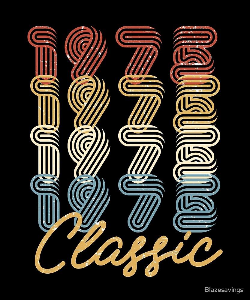 43rd Birthday Gift Vintage 1975 Retro Classic BDay Present by Blazesavings