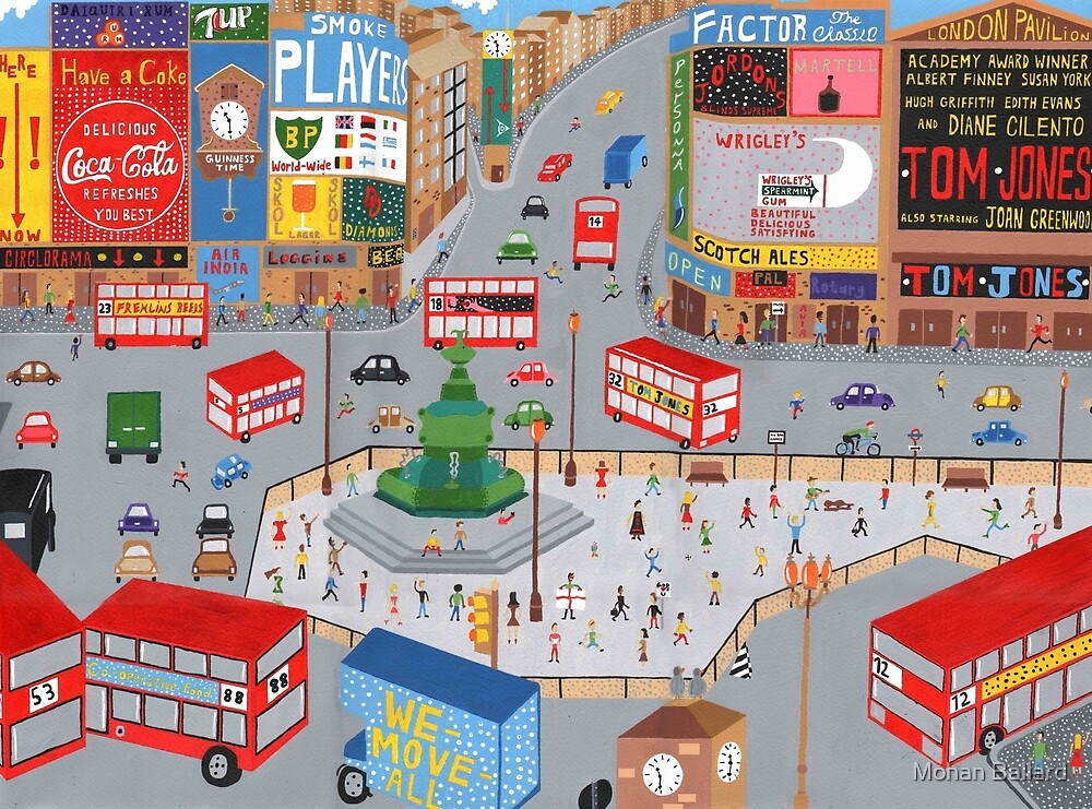 Piccadilly Circus in the 60's by Mohan Ballard