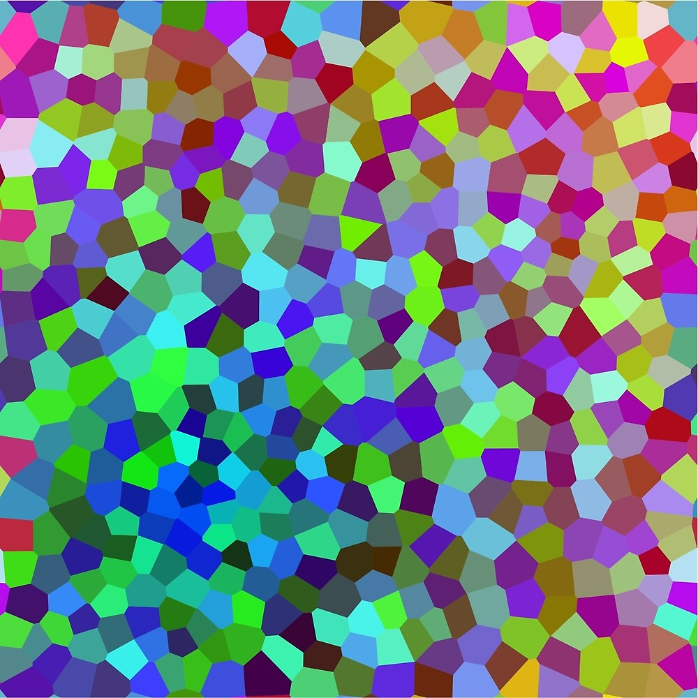 Coloured Voronoi 1 by Joe Wonham
