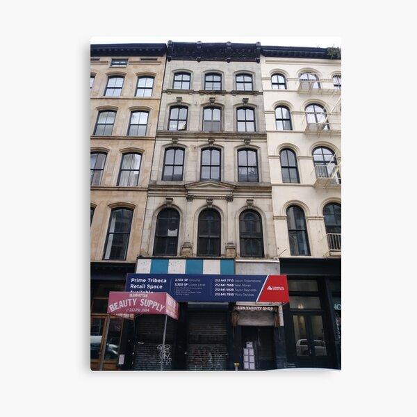 New York, Brooklyn, Manhattan, New York City, Buildings, streets, trees Canvas Print