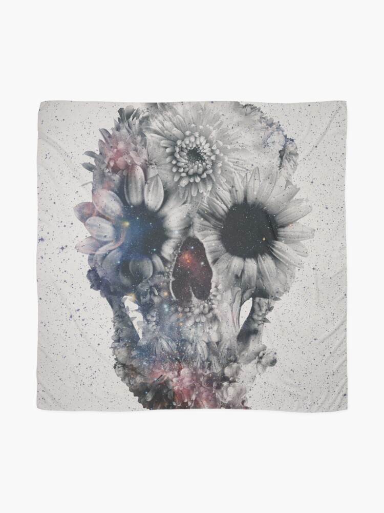 Alternate view of Floral Skull 2 Scarf