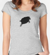 Angry Animals: Sheep Fitted Scoop T-Shirt