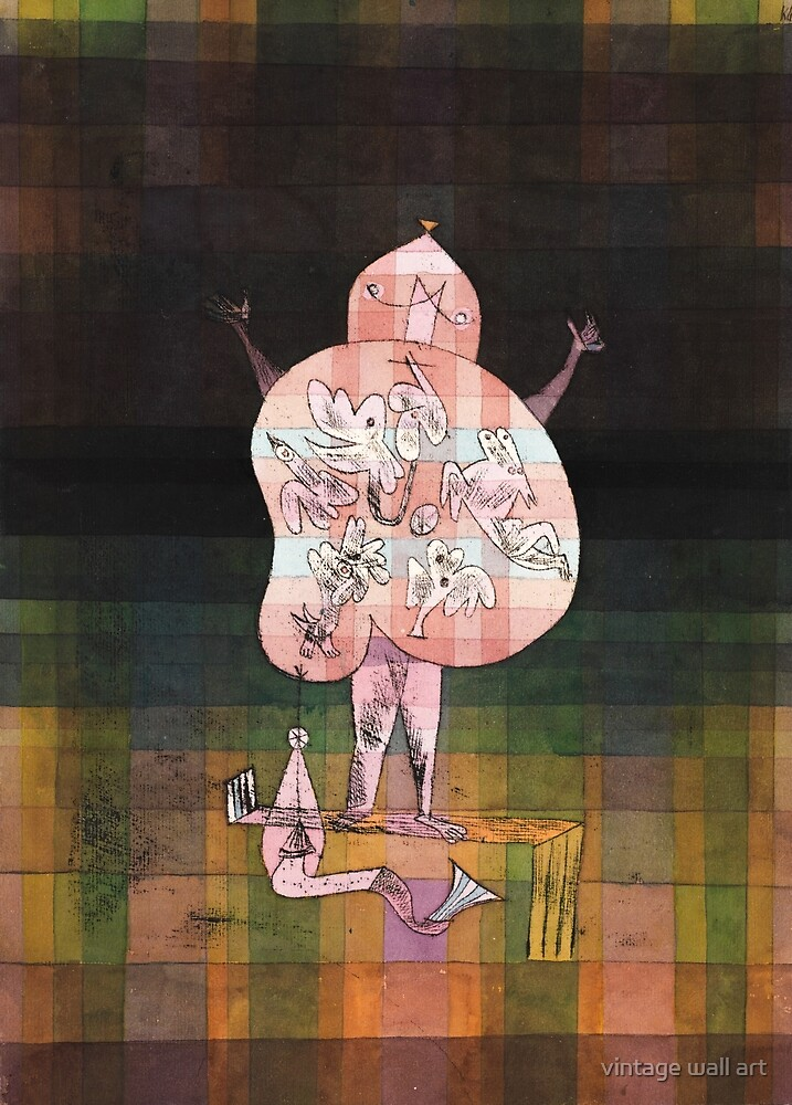Ventriloquist and Crier in the Moor by Paul Klee, 1923 by fineearth