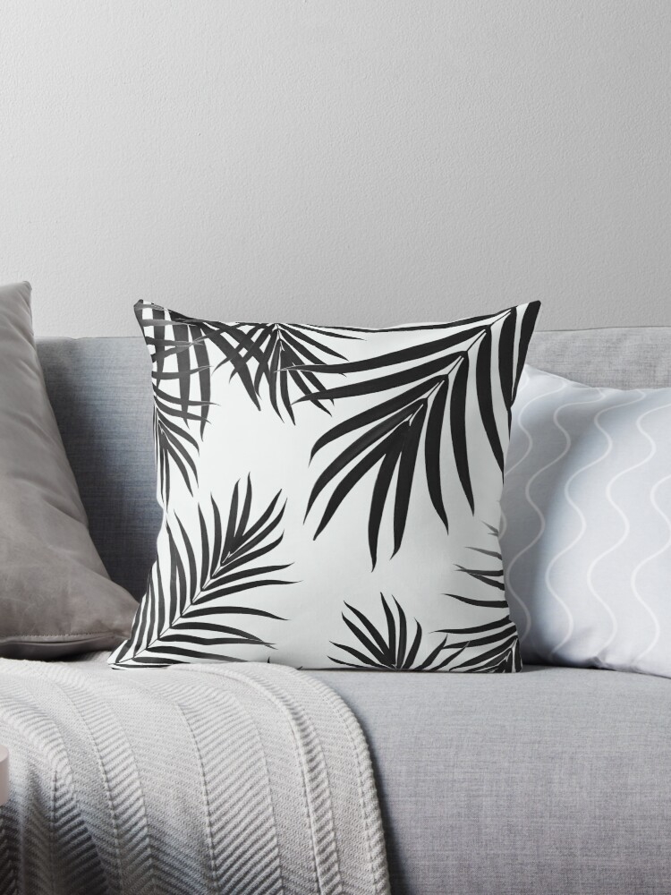 Palm Leaves Pattern Summer Vibes #2 #tropical #decor #art by anitabellajantz