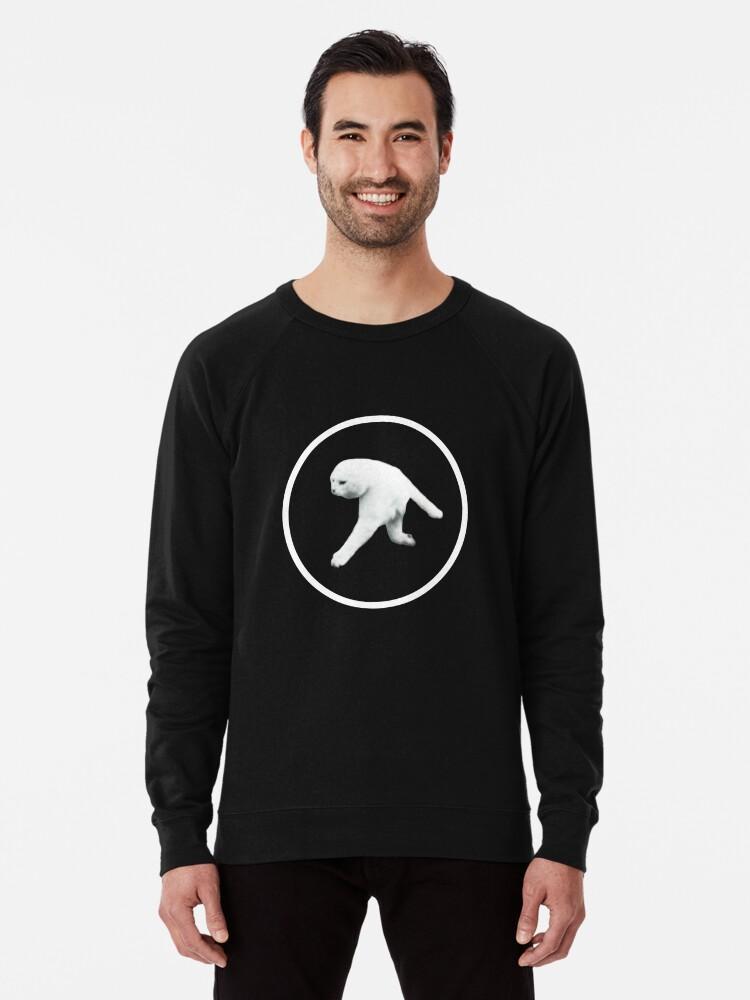 'Aphex Twin - Two legged cat (white logo)' Lightweight Sweatshirt by  SadRocket