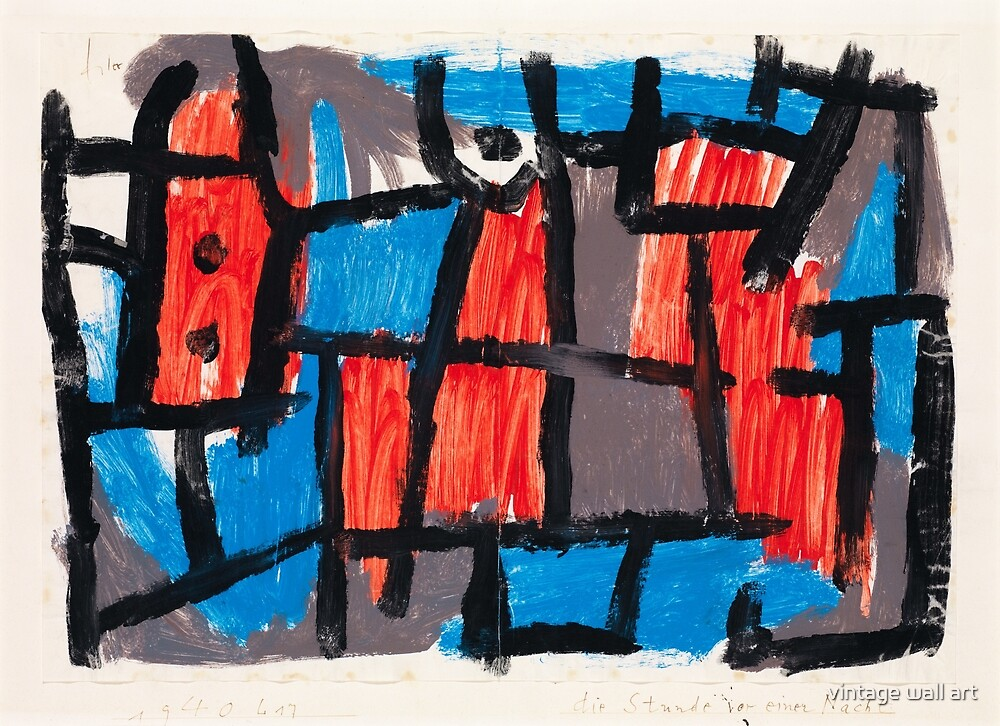 The Hour Before One Night by Paul Klee, 1940 by fineearth