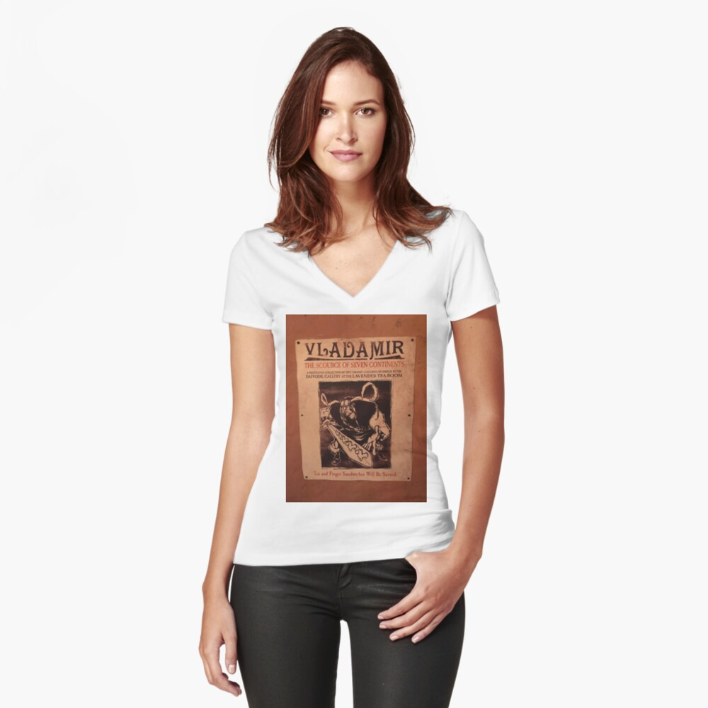 Vladamir Tangled Women's Fitted V-Neck T-Shirt Front