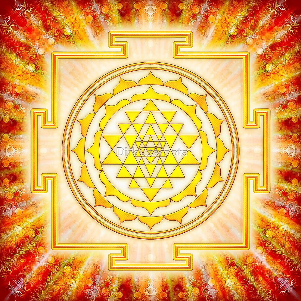 Sri Yantra - light by Dirk Czarnota